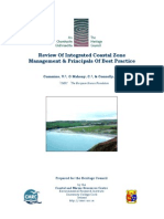 Review of Integrated Coastal Zone Management & Principals Of Best Practice