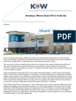 Knowledge.wharton.upenn.edu-The BhartiWalmart Breakup Where Does FDI in India Go Next