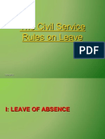 Rules on Leave