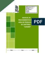 ManuaManual de Procediemientos de una Cafeteria del area de finanzas