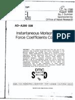 NCEL - Instantaneous Morison Equation Force Coefficients Computations