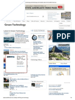 Green Technology and Technology and Innovation News From Scientific American