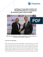 DHFL & Prudential Financial, Inc.- Life Insurance Joint Venture in India