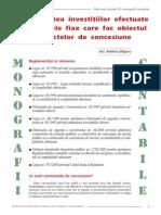Contabilitatea Investitiilor Efectuate La Mijloacele Fixe Care Fac Obiectul Contractelor de Conce