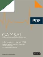 GAMSAT Info Book 14