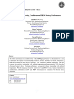 Impact of Driving Conditions on PHEV Battery Performance