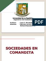 Sociedad Responsabilidad Ltda y Sociedad Comandita