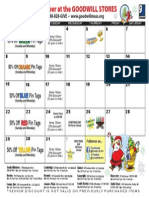Goodwill's December Retail Calendar