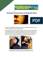Remedios Caseros Para el Sangrado Nasal