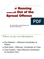 Power Running Game Out of the Spread
