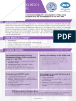 Certified ISO 27001 Lead Auditor -Two Page Brochure