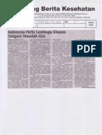 12740_Indonesia Perlu Lembaga Khusus Tangani Masalah Gizi