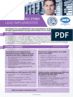 Certified ISO 27001 Lead Implementer - Four Page Brochure