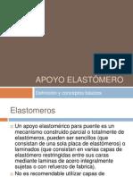 Apoyo elastomerico