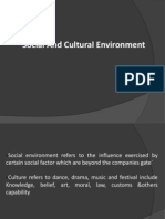 Social and Cultural Environement