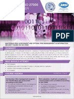 Certified ISO 27005 Risk Manager - Two Page Brochure