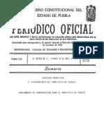 Reglamento de Construccion de Puebla