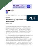 VIolencia y Agresion en El Psicopata Por E. Mata