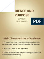 Audience and Purpose Markel Lecture Slides
