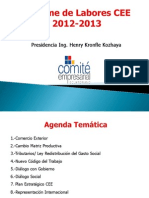 Informe de Labores CEE 2012-2013