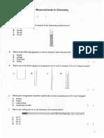 Worksheet 1 - Measurements in Chemistry (Questions)