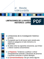 CLASE 6 LIMITACIONES DE LA INVESTIGACIÒN HISTORICO-JURIDICA (3)