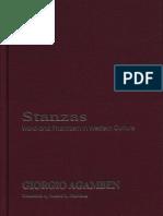 "Libro ""scanned"" sobre ensayos de Agamben"