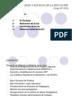 LEY DE CALIDAD Y EQUIDAD DE LA EDUCACIÓN ( DIAPOSITIVAS )
