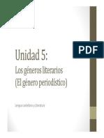 U5. Los géneros literarios (PERIODÍSTICO)