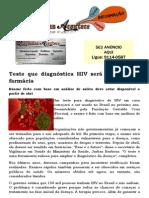 Teste que diagnóstica HIV será vendido em farmácia