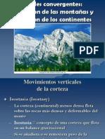 7.3 Formación de montañas en bordes convergentes