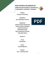 Presupuesto - Proyecto Inversion