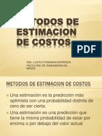 2- Metodos Estimacion de Costos