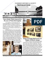 Winter 2013 Newsletter - North Berrien Historical Society