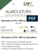 Alteraes Ao IVA e IRS Na Agricultura