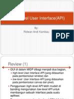 3High Level User Interface