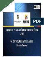 Upme Dr. Oscar Uriel Imitola Acero Director Generalx