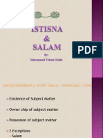 Salam and Istisna