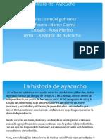 La Batalla de Ayacucho de Samuel