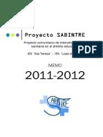 Memoria Sabintre 2011-2012