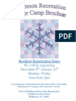 2014 Winter Camp Brochure and Registration Packet