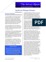 "November 2011 issue of The Kitces Report on ""Evaluating Reverse Mortgage Strategies"""