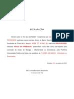 Declaração para Membros da Banca II