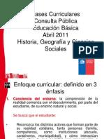 Bases Curriculares, consulta pública 2011