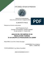 Analisi Revamping Regolatore Turbina