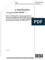 BS 7448 3 2005 Fracture Mechanics Toughness Tests. Method for Determination of Fracture Toughness of at Rates of Increase in Stress Intensity Factor Greater Than 3.0 MPa m0.5 S-1
