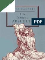 Canetti, La Lengua Absuelta