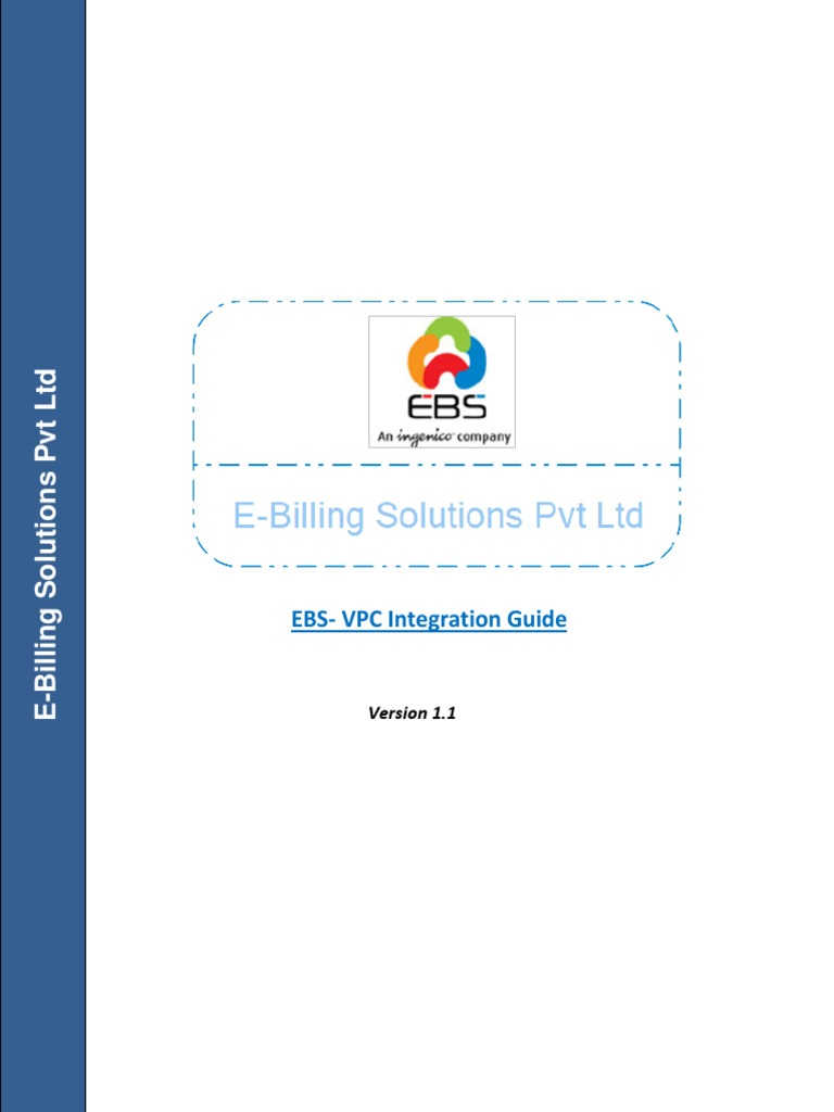Ebs Vpc Integraftion Manual v1 1 | Payment Card Industry