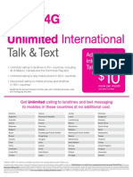 Unlimited International Talk Text 2788