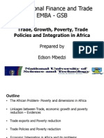 7. Trade, Growth, Poverty and Economic Integration in Africa